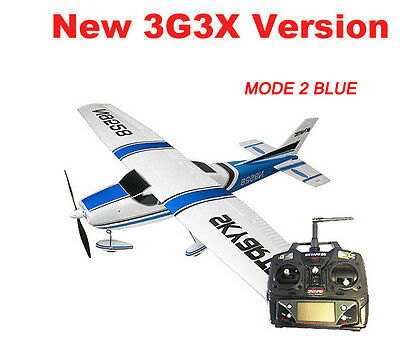 5CH Skyartec Cessna 182 Brushless RTF RC Plane Airplane Blue Mode 2