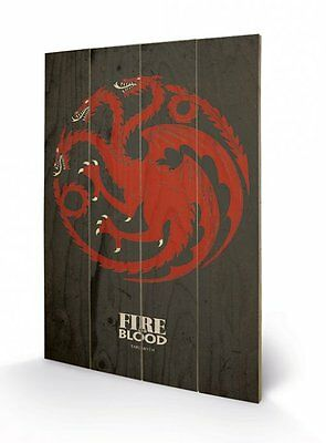 Game Of Thrones Targaryen Wooden Wall Art Officially Licensed