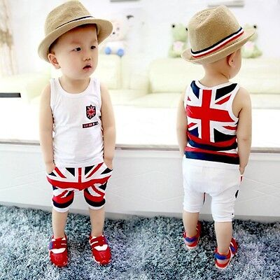 2pcs Toddler Kids Baby Boys Girls Outfits T-shirt Tops Pants Clothes Set Outfit