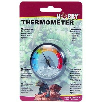 Hobby Thermometer für Terrarien, selbstklebendes Thermometer