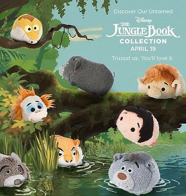 US Disney Store The Jungle Book Tsum Tsums set of 8