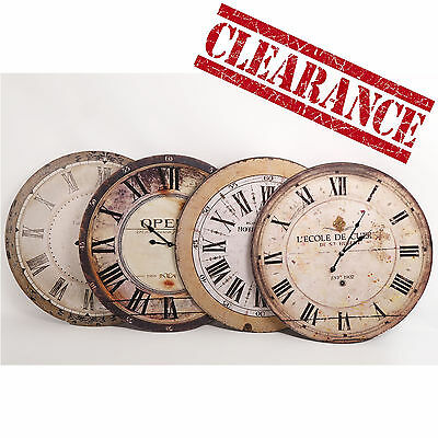 New 60cm Large Wall Clock Wooden Antique French Vintage Country Style Time