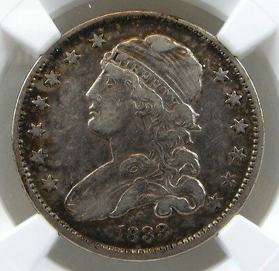 1833 Capped Bust Quarter VF30 NGC Toned & Nice Eye Appeal!