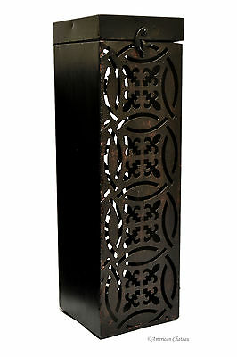 Metal Scroll Work Iron Wine Bottle Holder Caddy Carrier Gift Box