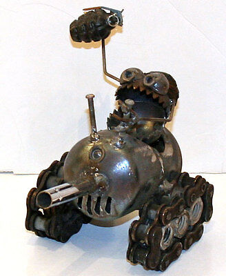 Sugarpost Mini Gnome Be Gome Tank Garden Office Home Welded Metal Art