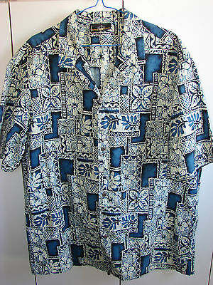 Royal Creations XL  Floral Squares & Tapa on Blue/Mint