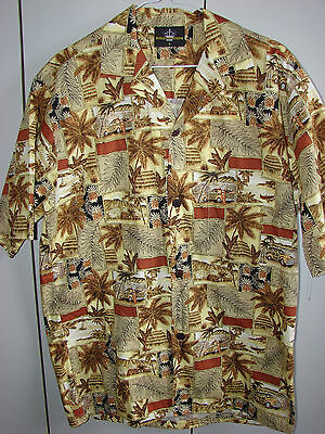 Royal Creations  Small  Surf Shacks & Woodies on Brown/Mint