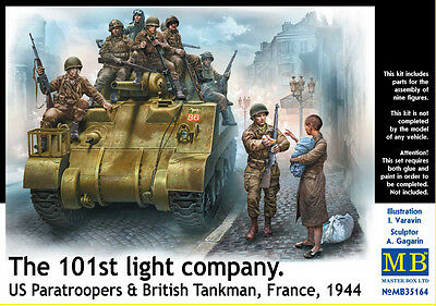 MASTER BOX™ 35164 US Paratroopers & British Tankman, France 1944 in 1:35