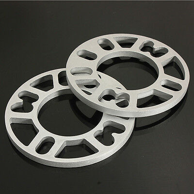 2pcs Universal 10MM Alloy Aluminum Wheel Spacers Shims Plate 4/5 Stud Fit WS-100