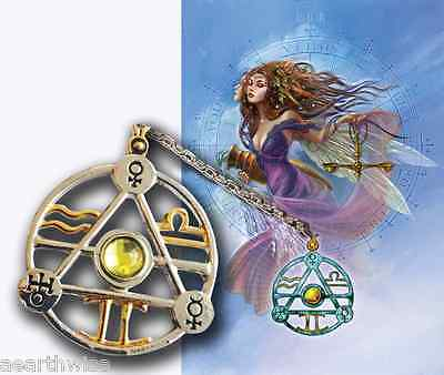 ELEMENTAL AIR TALISMAN PENDANT + CARD & ENVELOPE  Wicca Witch  Pagan Goth