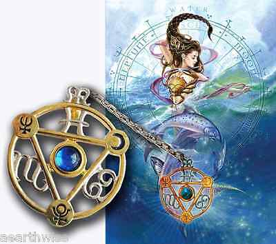 ELEMENTAL WATER TALISMAN PENDANT + CARD & ENVELOPE  Wicca Witch  Pagan Goth