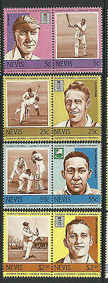 NEVIS 1984 CRICKETERS (1st set) Set 8 Values MNH