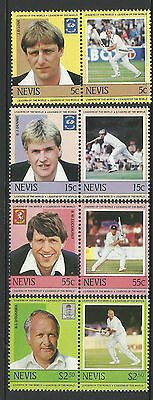 NEVIS 1984 (2nd set) Set 8 Values MNH