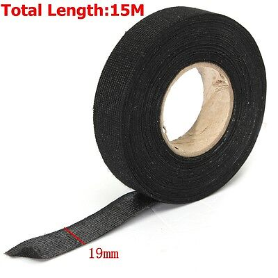 rolls car automotive wire harness wrap adhesive cloth fabric 19mmx 15m car auto hot adhesive cloth fabric tape cable looms wiring harness