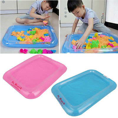 Novel Kids Indoor Funny Play Sandbox Inflatable Large Castle Sand Box Table Toys