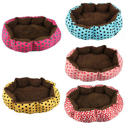 Cute Pet Dog Puppy Cat Soft Flannel Warm Bed House Plush Nest Mat Pad Kennel