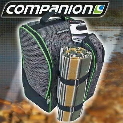 4 Person Picnic Set Outdoor Backpack Cooler Caravan Camping New With Cutlery