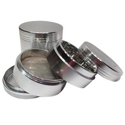 Silver Nice 4 Layers Metal Tobacco Crusher Hand Muller Smoke Herbal Herb Grinder