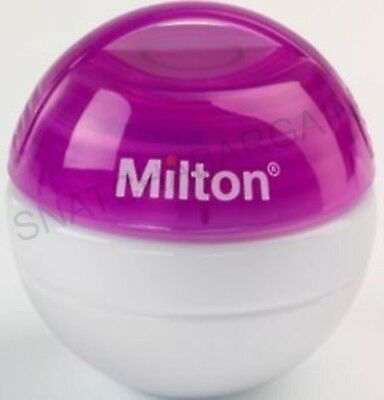 Pink Milton Mini Portable Soother Steriliser + 10 Tabs Free For On The Go