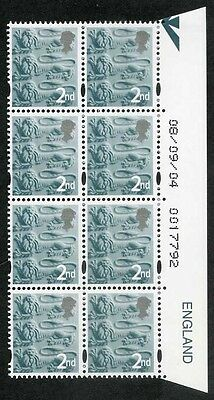 E-DONP2ndC England DLR 2nd Warrant Block of 8 dated 08/09/04