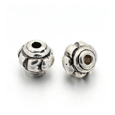 Packet of 50+ Antique Silver Tibetan 4 x 5mm Rondelle Spacer Beads HA17805