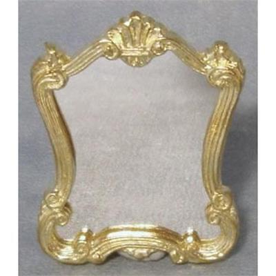 Victorian Gold Framed Mirror 1:12 Scale for Dolls House D1857
