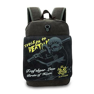 Neu ONE PIECE Trafalgar Law Anime Manga Rucksack Tasche Back Bag 37x31x13cm A6