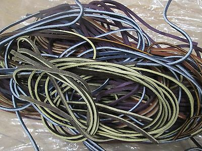 Leather Tie Strings  --For Bridles or Saddles --1 lb. --Assorted colors & Length