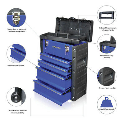 319 US PRO Tools Mobile Rolling Wheels Trolley Cart Storage cabinet Tool Box
