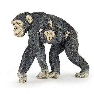 Papo 50194 Chimpanzee and Baby Wild Animal Figurine Model Toy Replica 2016 - NIP