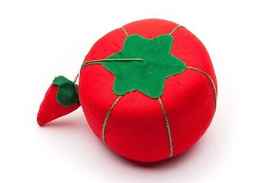"""large size 11"""" round Tomato Pin Cushion - With Emery Strawberry great for sewers"""
