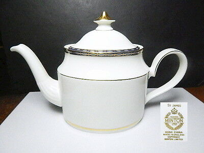 Minton ST JAMES Teapot, 1st Quality, Mint