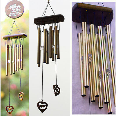 8 Tubes Bronze Tube Church Wind Chimes Outdoor Bells Hanging Garden Decorations