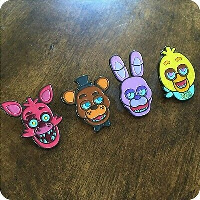 New Five Nights at Freddy's FNAF Bonnie Freddy Foxy Chica Badges Pin Cosplay