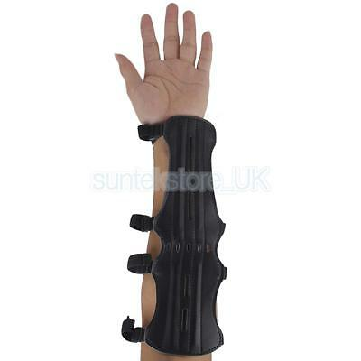 Blk leather Shooting Archery Protective Arm Guard For Compound Recurve Bows
