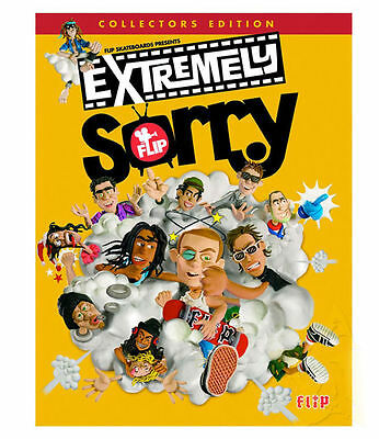FLIP SKATEBOARDS Extremely Sorry DVD SKATE DICE STICKERS FREE POST NEW