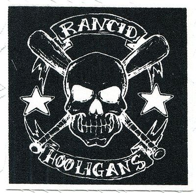 RANCID Hooligans, Skull & Bats CLOTH PATCH sew on **FREE SHIPPING** punk skin oi