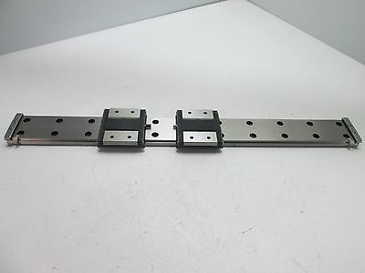 THK RSR15WZM 2x Carriages On 43cm Long Rail (43cm x 4cm x 1cm),*With Keepers*