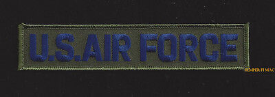 Us Air Force Script Name Tag Hat Patch Tab Pilot Crew Wing Afb Usaf Quilt Green