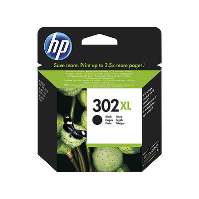 Genuine HP 302XL Black Ink Cartridge for Officejet 3830 4650 F6U68AE
