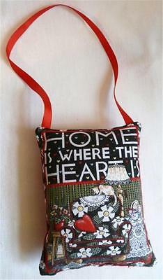 Large Padded Pincushion - Home Is Where The Heart Is - Mary Engelbreit Design*