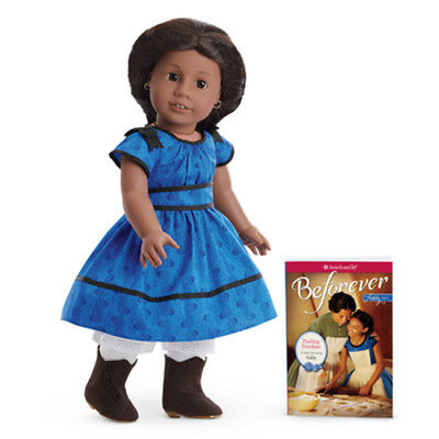 "American Girl ADDY DOLL & BEFOREVER BOOK 18"" Historical Meet Addy's Dress NEW"