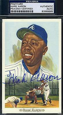 Hank Aaron Signed Psa/dna Perez Steele Celebration Authentic Autograph