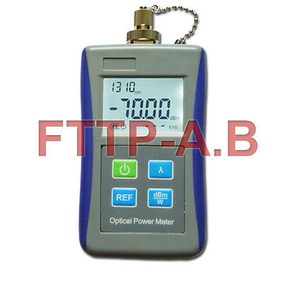 New Digital Handheld Optical Laser Power Meter FC Adapter Fiber Optic Tool Test