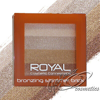Royal Bronzing Shimmer Brick Bronzer Highlighter Face Contouring Powder Compact