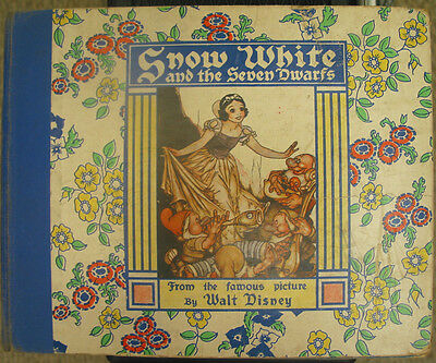 Snow White and the Seven Dwarfs - Hardcover Book 1938 - Walt Disney