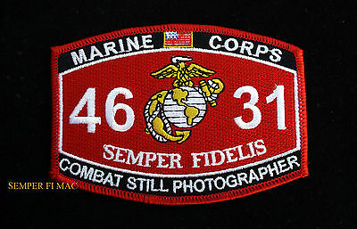 Mos 4631 Combat Still Photographer Us Marines Patch Fmf Uss Mar Div Maw Fssg Wow