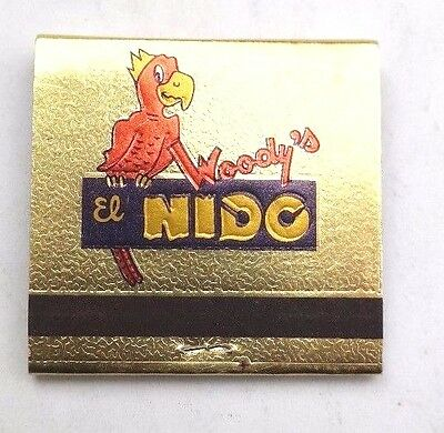 Vintage EL WOODYS Famous MEXICAN Food PHOENIX Arizona (El Nido) MATCHBOOK