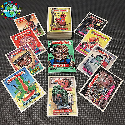 GARBAGE PAIL KIDS 10th SERIES 10 COMPLETE 86-CARD SET 1987 +FREE WAX WRAPPER