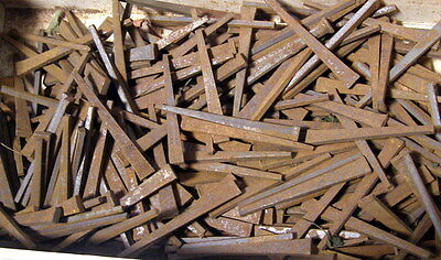 ** lot of 50 - Vintage CUT-NAILS (rust too) - 2 1/8 - 2 1/2 inch -